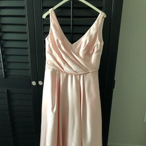 Davids Bridal Bridesmaid pink dress